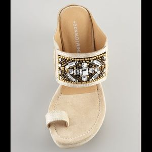 Donald J. Pliner Gilett Jewel-Detail Wedge Sandals